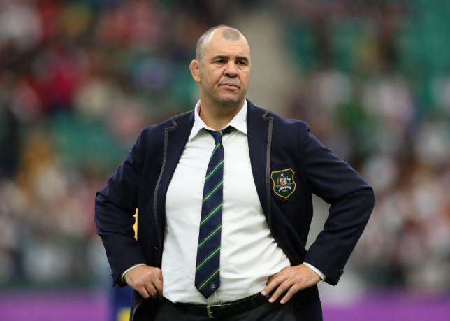 Australia coach Michael Cheika reacts badly to line of questioning after dropping F-bomb in interview