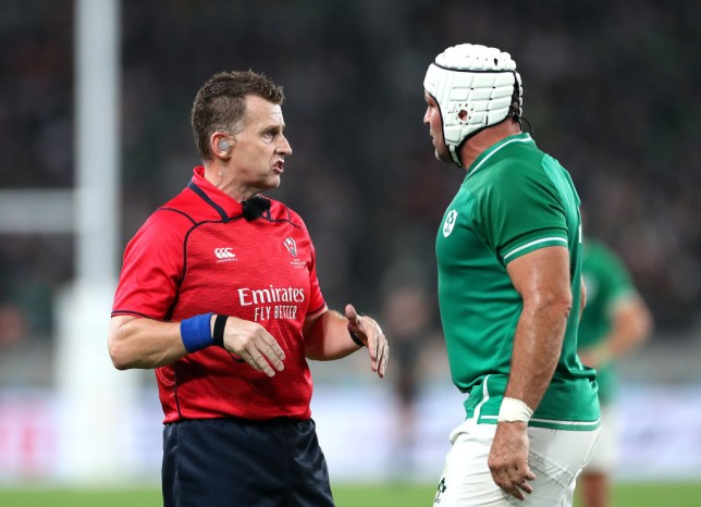 Referee Nigel Owens missed an illegal ruck clearout in the build-up to the first try
