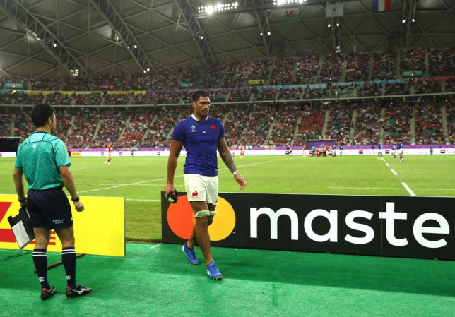 Sebastien Vahaamahina spent the remainder of the match watching from the bench