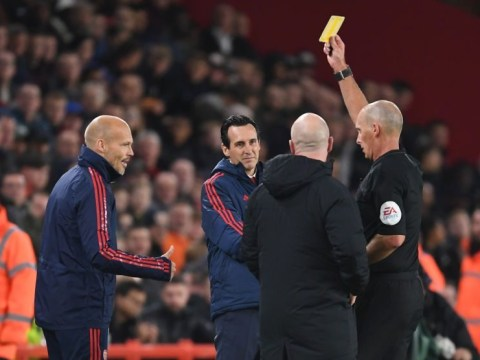 Unai Emery on why Freddie Ljungberg was shown yellow card during Arsenal defeat