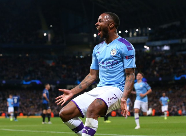 Raheem Sterling scored three times in Manchester City's crushing 5-1 win over Atalanta in the Champions League