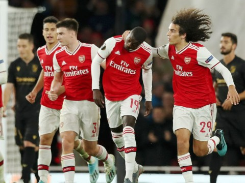 Nicolas Pepe saves the day for Arsenal with two stunning free-kicks in late win over Vitoria Guimaraes