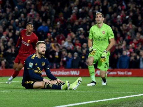 Jamie Carragher tells Arsenal to sell Shkodran Mustafi after Liverpool defeat