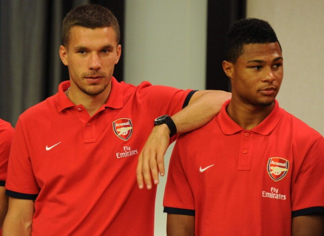 Lukas Podolski has put forward Serge Gnabry for Arsenal's Player of the Month award