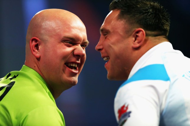 Michael van Gerwen and Gerwyn Price
