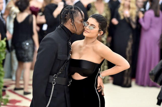 Travis Scott and Kylie Jenner at Met Gala