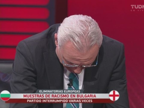 Hristo Stoichkov cries on TV after England players suffer racist abuse from Bulgaria fans
