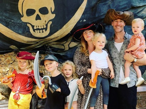 It's a pirates life for Dawson's Creek star James Van Der Beek and family