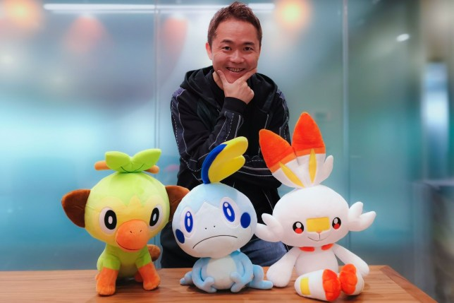 Masuda-san making the difficult decision of which starter pokémon to go with