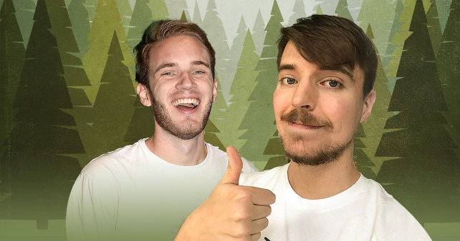 PewDiePie and MrBeast