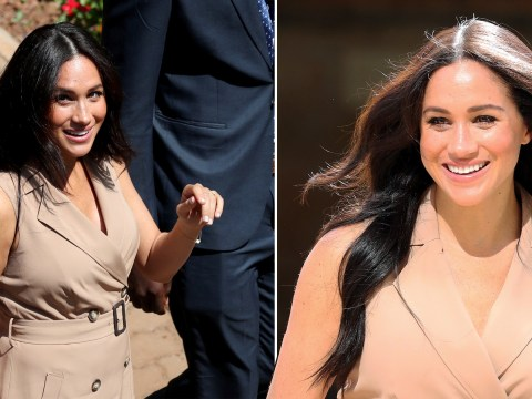 Students scream as Meghan Markle arrives to talk about gender equality