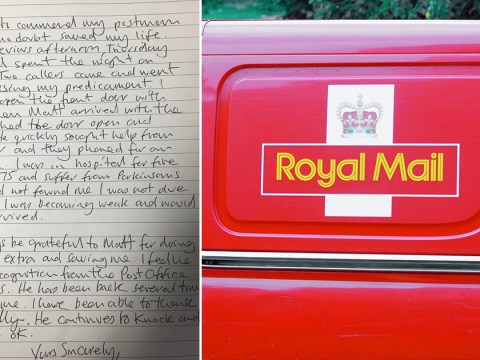 Pensioner sends heartwarming letter thanking postman for saving his life