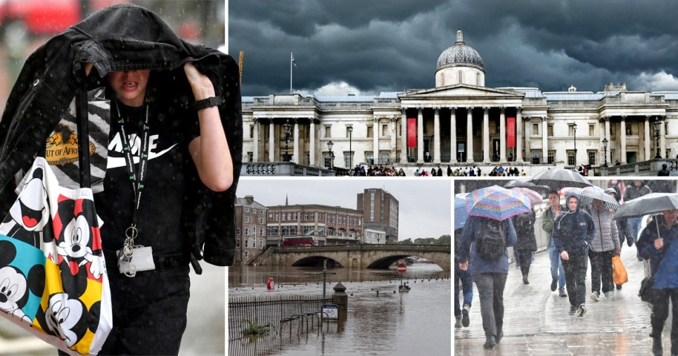 Heavy downpours and flooding have swept across the UK