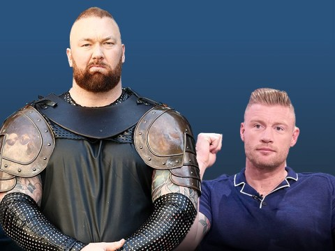 Freddie Flintoff and Jamie Redknapp take on Game of Thrones beast The Mountain