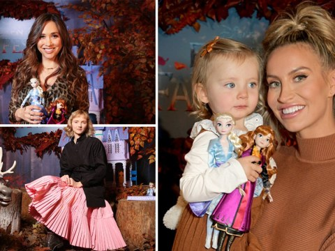 Ferne McCann, Myleene Klass and Lily Cole channel inner Disney princesses for Frozen launch