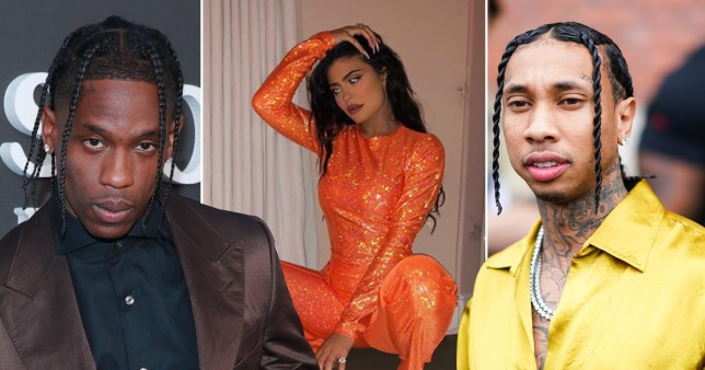 Travis Scott, Kylie Jenner and Tyga