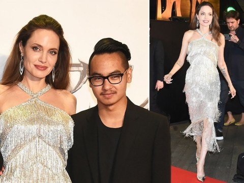 Angelina Jolie reunited with eldest son Maddox as she oozes glamour in showstopping flapper dress