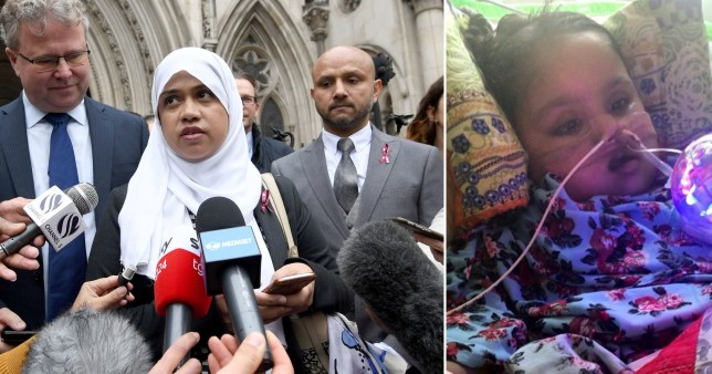 Shelina Begum and Mohammed Raqeeb outside London's Royal Courts of Justice (Picture: PA)