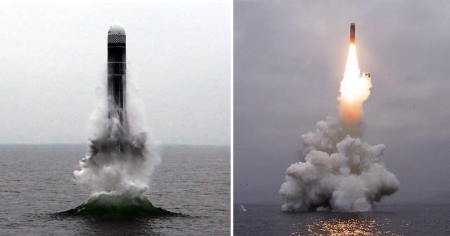 North Korea tests submarine-launched ballistic missile ahead of fresh US talks