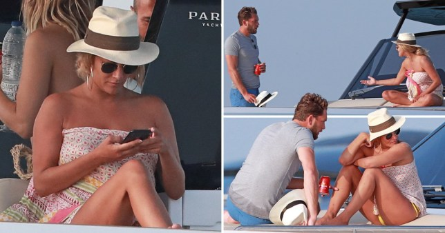 Caroline Flack and boyfriend Lewis Burton Ibiza