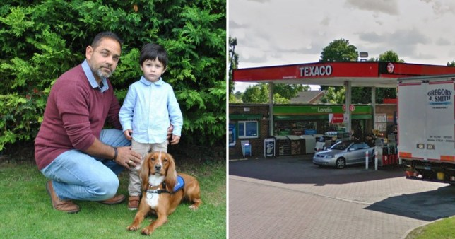Little Leon Bulner was turned away with his dad Karsten because he had an assistance dog with him