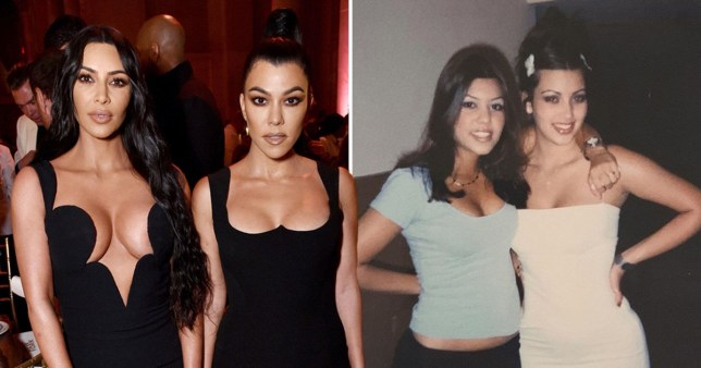 Kim Kardashian Kourtney throwback