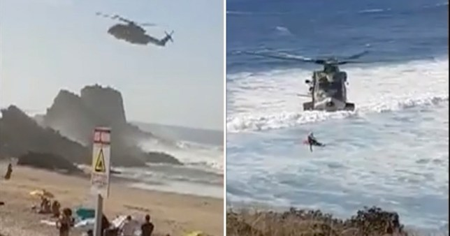 Two Brits drown off Portuguese beach as man, 34, attempted to save friend, 33, when she got into difficulty while swimming