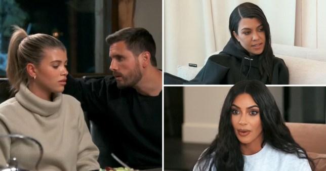 kourtney kardashian, kim kardashian, scott disick and sofia richie