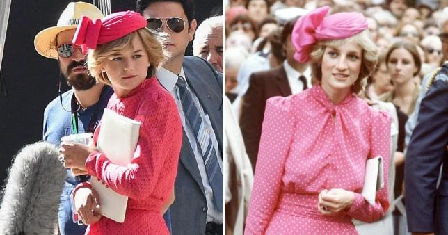 Emma Corrin as Princess Diana in The Crown season 4