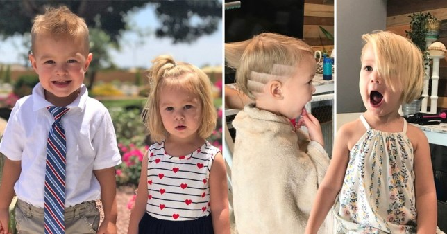 Little girl has to have hair cut short after toddler brother cut it all off
