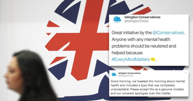 Tories tweet that people with mental health conditions should be 'neutered'