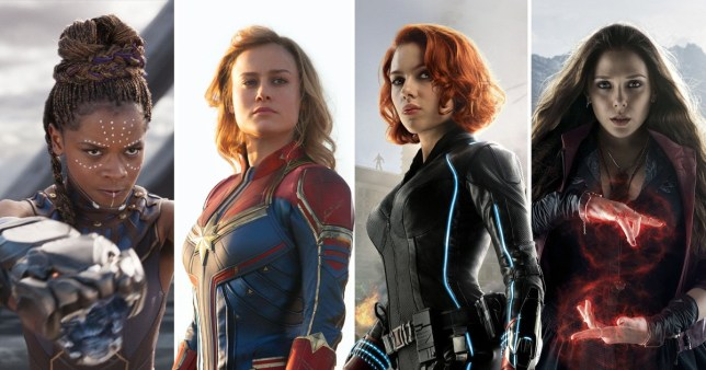 Shuri, Captain Marvel, Black Widow and Scarlet Witch