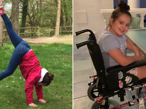 Girl paralysed after getting dizzy while doing handstands with her mum