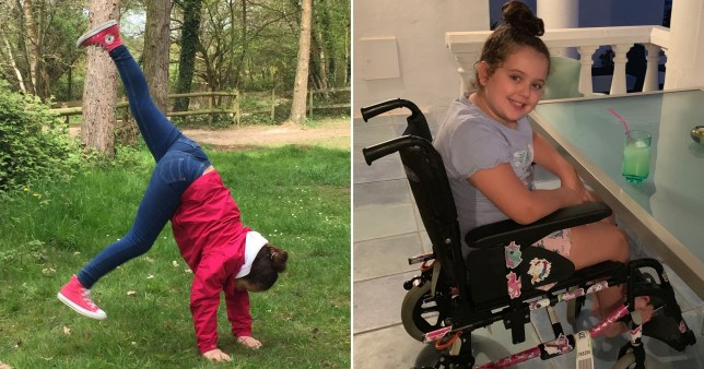 Maisie Jones, nine, suddenly couldn't walk after doing the gymnastics, with seemingly no explanation.