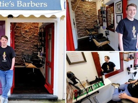 Man opens barber shop so tiny it can only fit two customers inside at a time