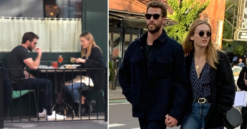 Liam Hemsworth Maddison Brown hold hands on New York date ...