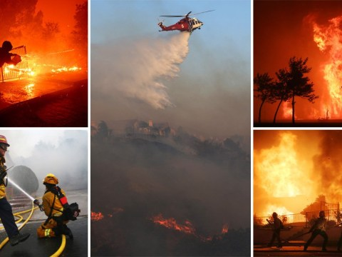 Raging wildfires force 100,000 people to flee homes in California
