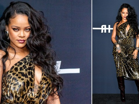 Rihanna is queen of our hearts as she rocks leopard print for book launch