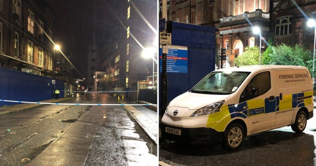 The man has been left in a critical condition following the attack in Whitechapel