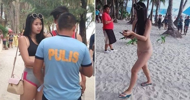 Tourist arrested in Philippines for wearing skimpy bikini that was 'literally a string'