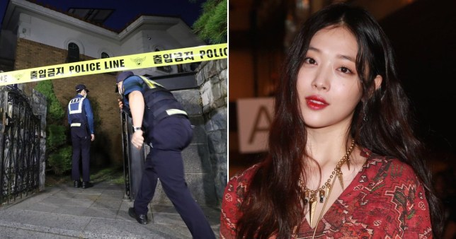 Police at Sulli's house