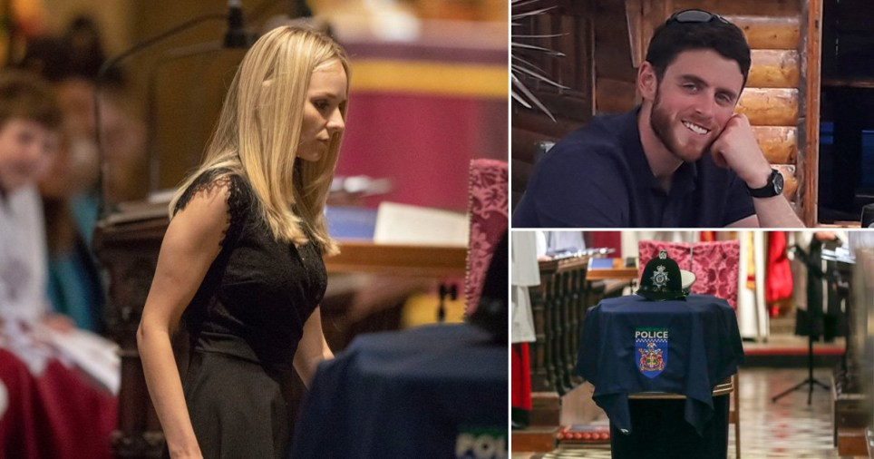 Officers in tears as hundreds pay tribute to Pc Andrew Harper