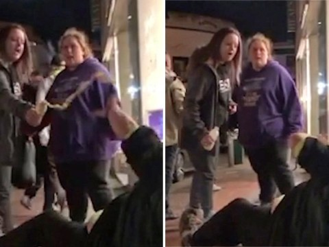 Woman pours water on homeless man after watching him being attacked