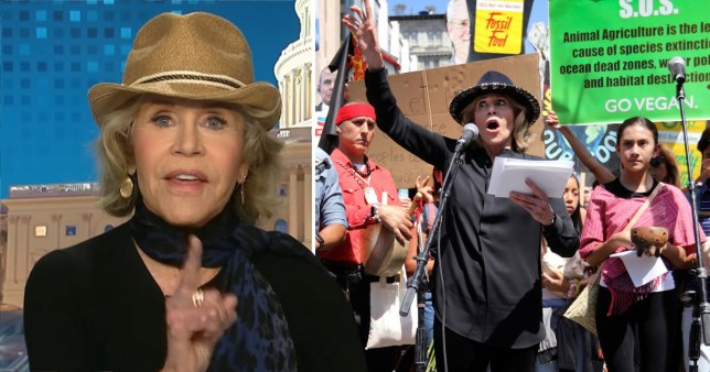 Jane Fonda vows to 'get arrested every Friday' to raise awareness about the climate crisis