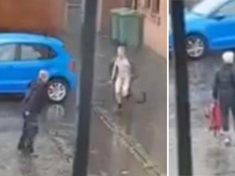 Naked man used bike wheel to attack stranger in the street