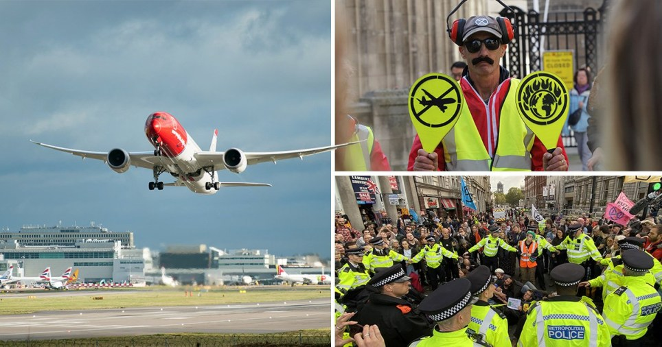 Activists will be at Gatwick Airport tomorrow (Picture: SWNS