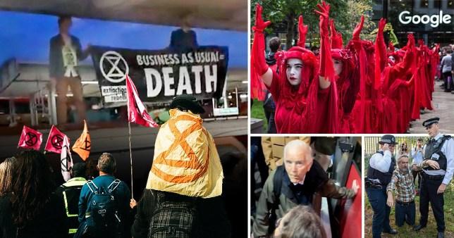 Extinction Rebellion use non-violent civil disobedience to achieve their aims (Picture: REUTERS/Peter Nicholls)