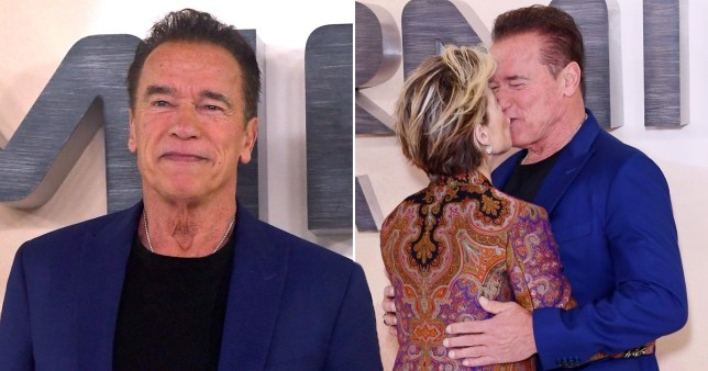 Arnold Schwarzenegger and Linda Hamilton reunite with a kiss 28 years after Judgement Day