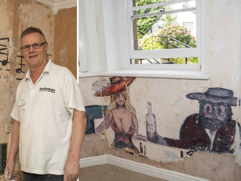 Paintings by WW2 soldiers found under wallpaper at care home