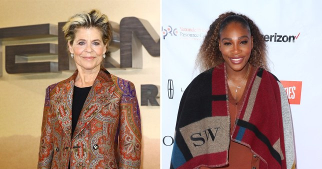 Terminator's Linda Hamilton reveals she was only able to get Serena Williams\' trainer because she was pregnant